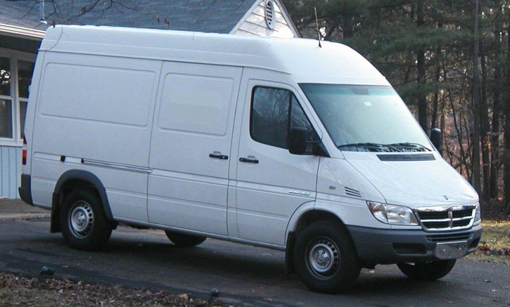 Lieferwagen für eine Haushaltsauflösung